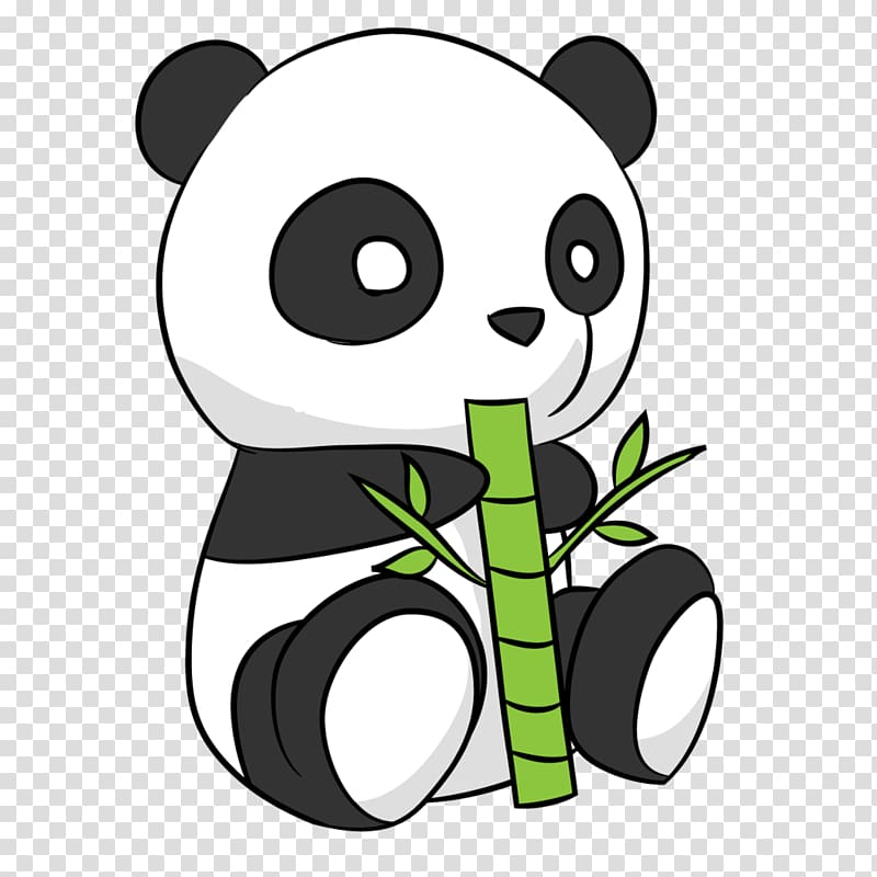 Panda eating bamboo , Giant panda Drawing Cuteness , Cute Panda.