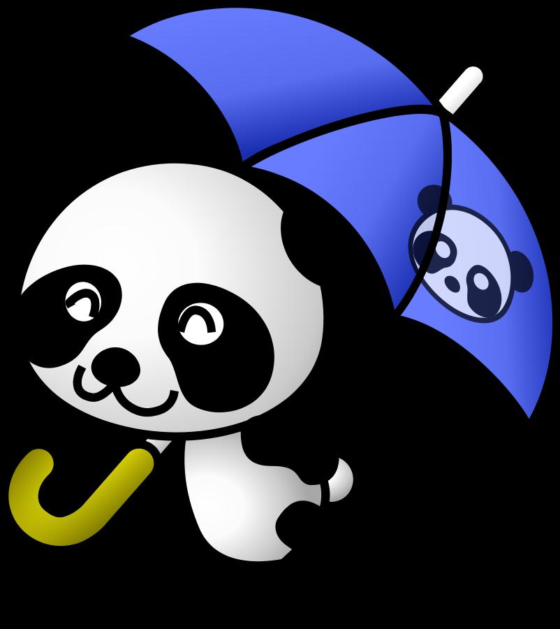 Cute panda bear clipart free images 8.