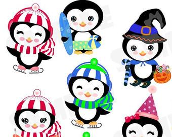Cute Penguin Clip Art.