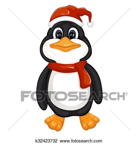 Cute penguin Clipart.