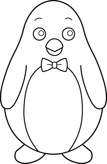Penguin Clipart Black And White Free.