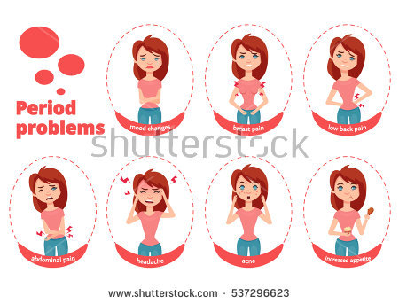 Woman Period Stock Images, Royalty.
