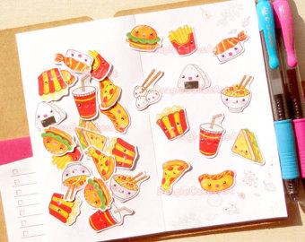 64 Cute Period Tracker Planner Stickers, Filofax, Erin Condren.