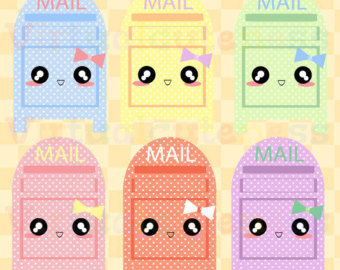 Cute Period Tracker Clip Art Monthly Cycle Planner Kawaii.