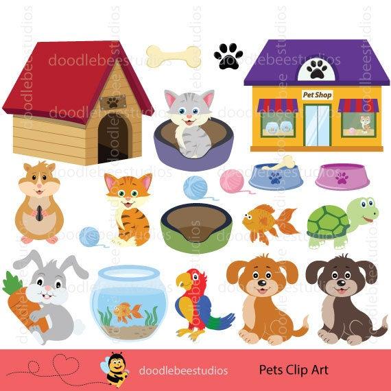 Pets Clipart, Pets Clip Art, Cute Pets Download, Digital Pets, Animals  Clipart.