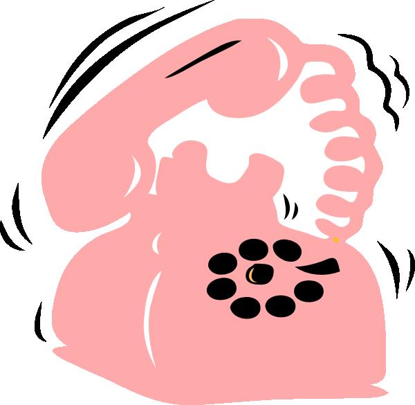 Pink Phone Clip Art at Clker.com.