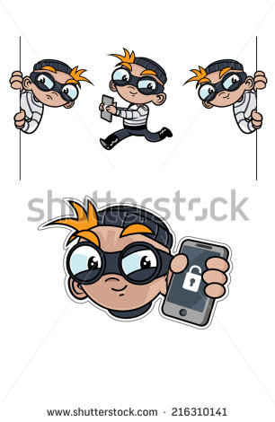 Cute Computer Hacker Vector Clip Art Stock Vector 142972519.