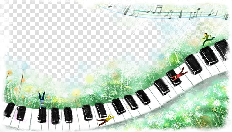 Piano Musical keyboard Electronic keyboard, Ink cute piano.