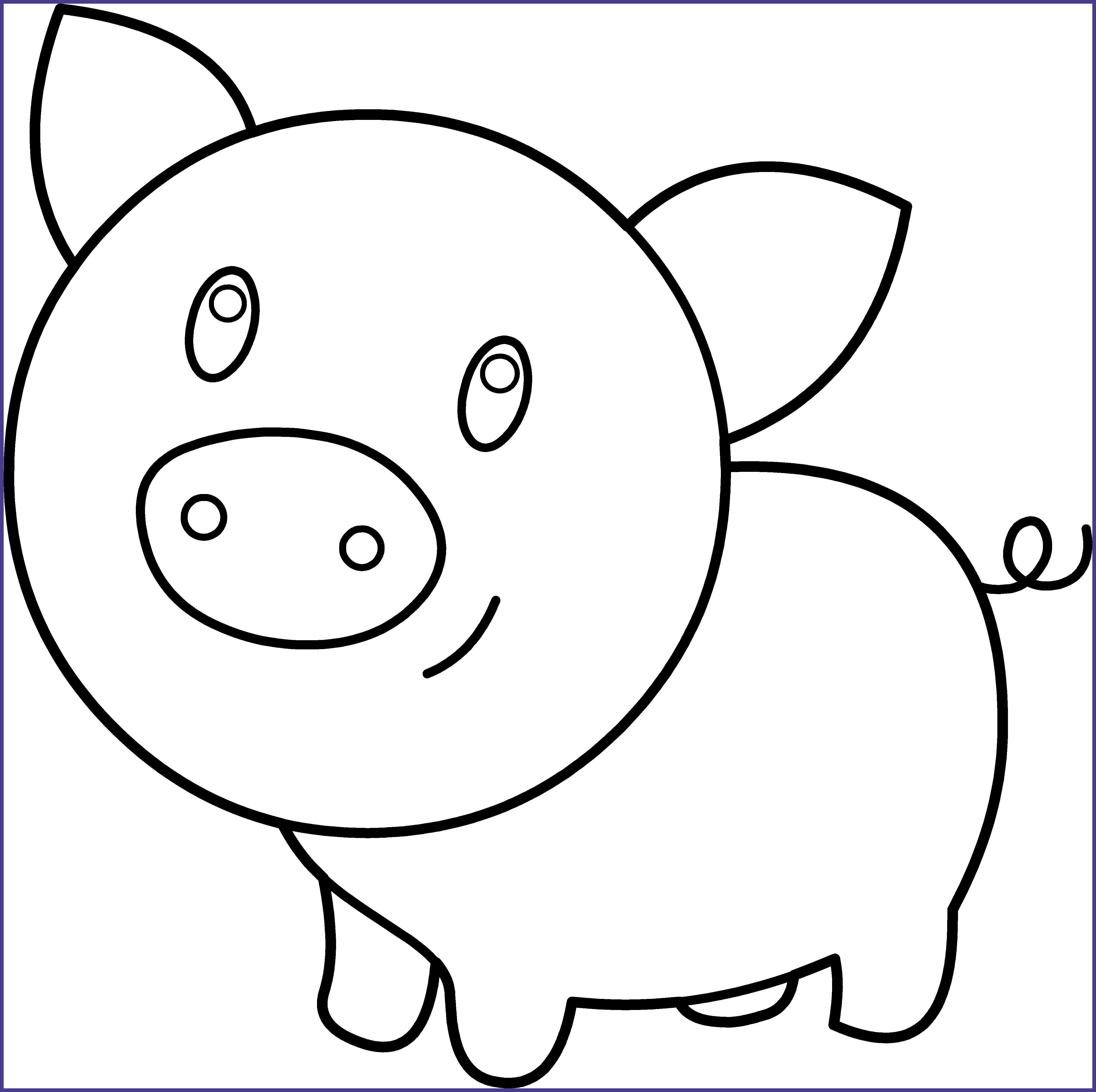 Download Unbelievable Cute Pig Clipart Black And White.