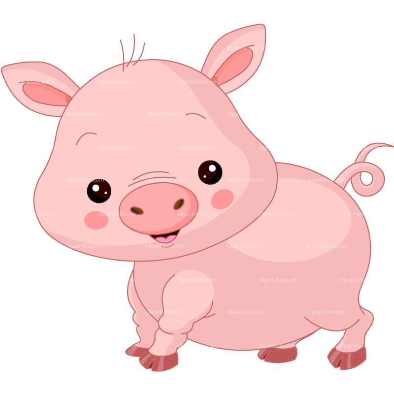 CLIPART CUTE FARM PIG.
