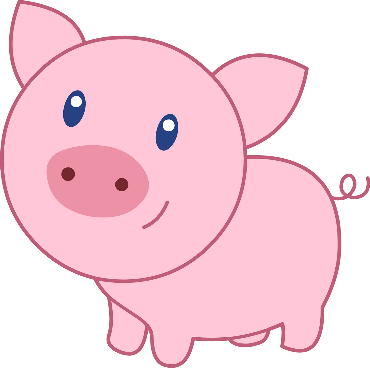 Cute Pig Cartoon 07 Wallpaper.