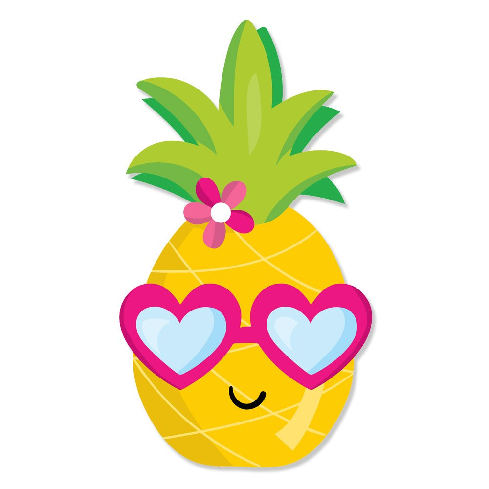Amazon.com: Cute Happy Pineapple Girl Head with Heart Glasses.