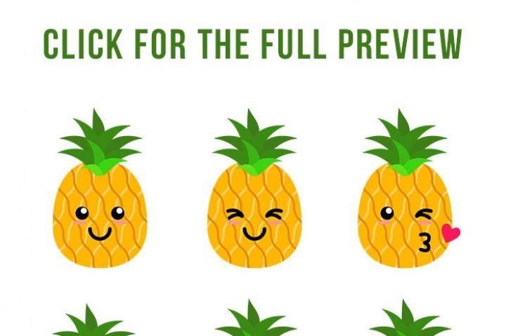 Cute pineapple clipart 6 » Clipart Portal.