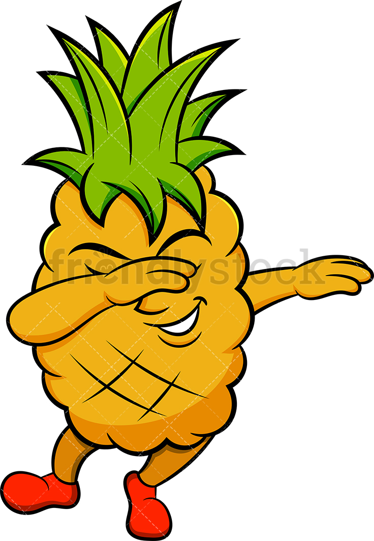 A Dabbing Pineapple.