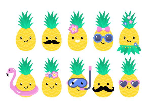 Best Pineapple Illustrations, Royalty.