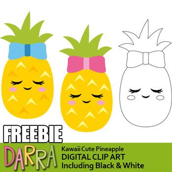 Cute Pineapple clip art Free.