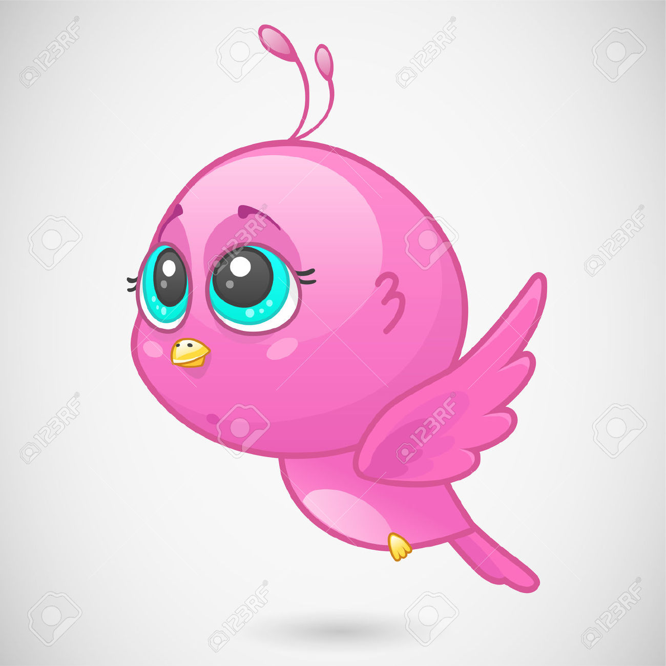Cute Pink Bird Royalty Free Cliparts, Vectors, And Stock.