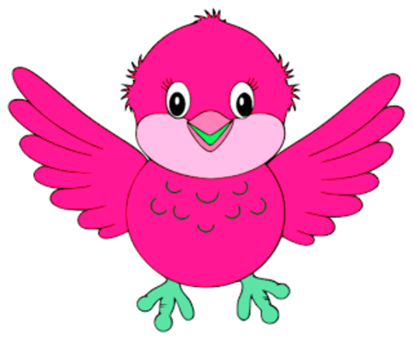 Pink Cute Bird Clipart.