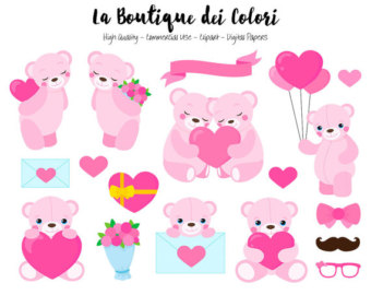 Pink and Mint Baking Clipart Cute Digital Graphics PNG.