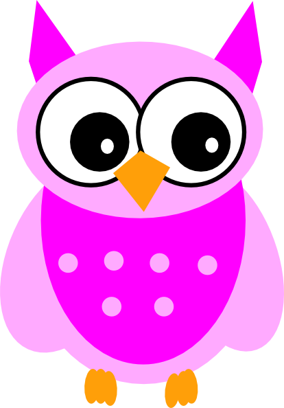 Cute Pink Owl Clip Art at Clker.com.