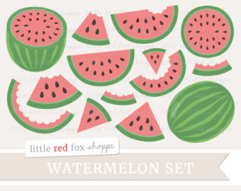 watermelon clipart Watercolor clipart, clipart, pink clip art.