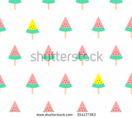 Pink Watermelon Slices Stock Images, Royalty.