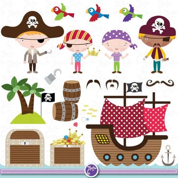 Pirate Clipart Clip Art Set cute pirate, pirate clip art for perfect.