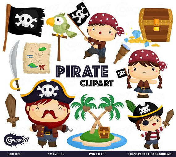 Pirate Clipart, Pirate Clip Art, Pirate Png, Squad Clipart, Parrot.