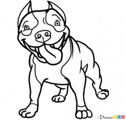 Download cute pitbull drawings clipart American Pit Bull Terrier.
