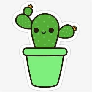 Cactus Clipart Kawaii.
