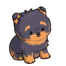Cute Yorkies Playing Png Clipart.