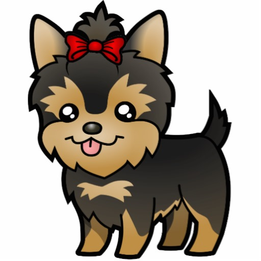 Cute Playful Yorkies Png Clipart.