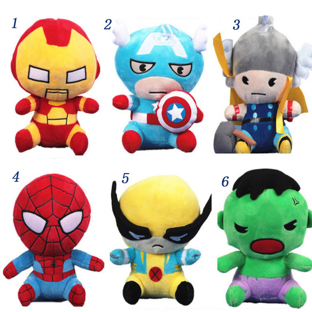 Aliexpress.com : Buy The Avengers Cute Plush Toys Cartoon 16cm.