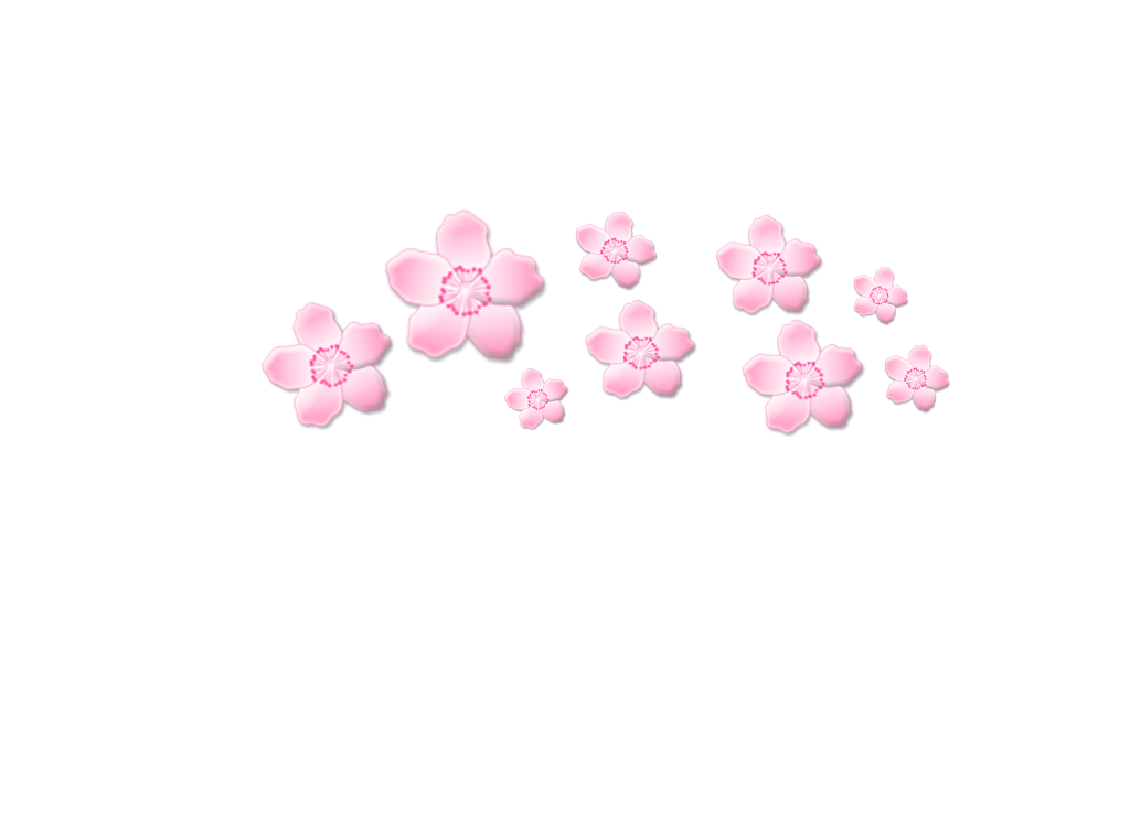 freetouse cute png sakura flower pink crown.