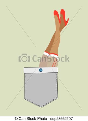 Vector Clipart of Cute pocket, art vector design csp28662107.