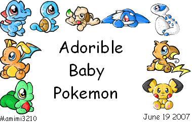 Pokemon Cute Clipart.