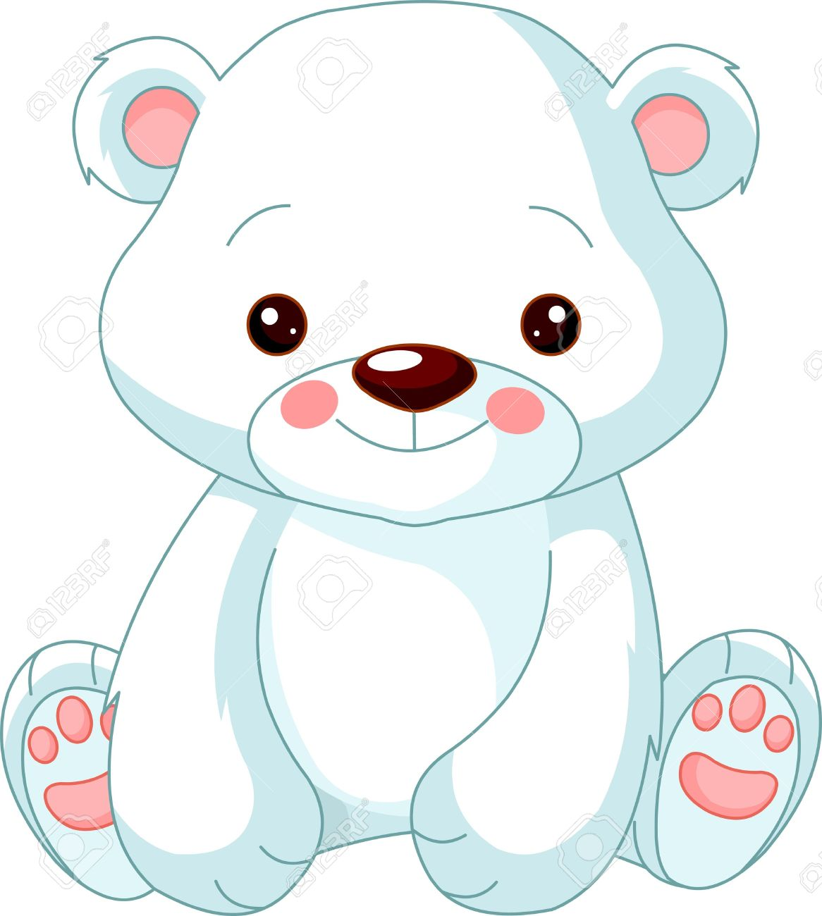 Fun zoo Illustration of cute Polar Bear.