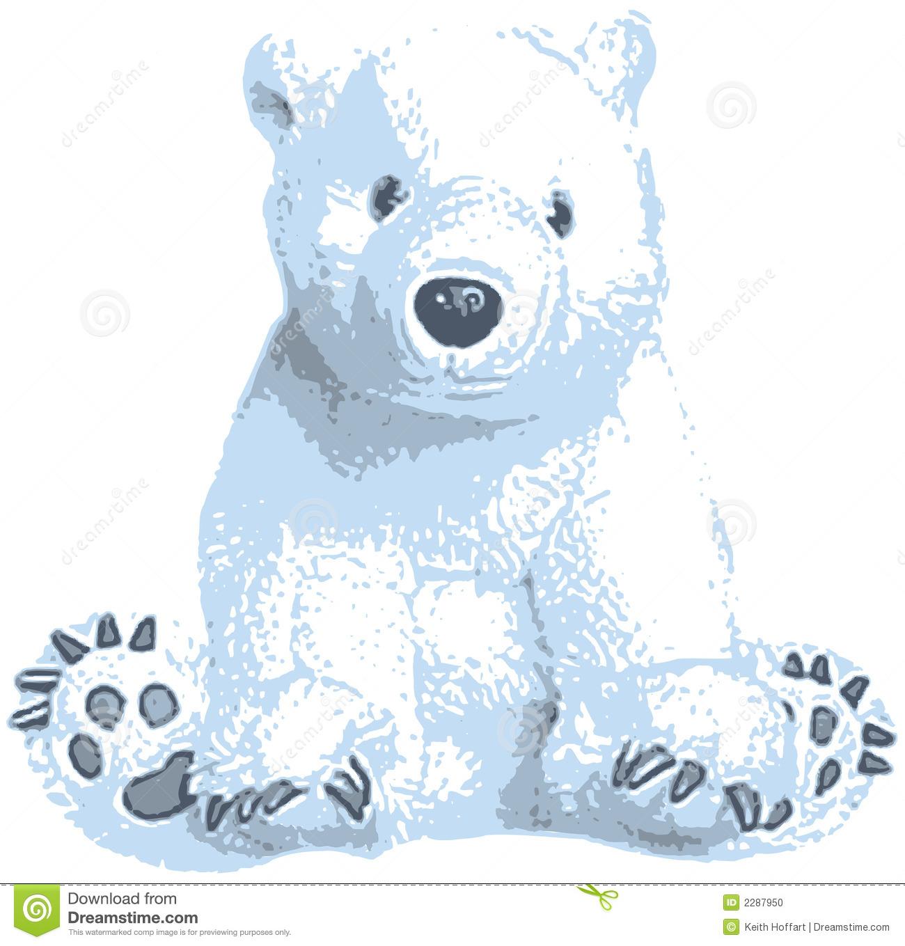 Cute polar bear clip art stock vector. Illustration of predator.