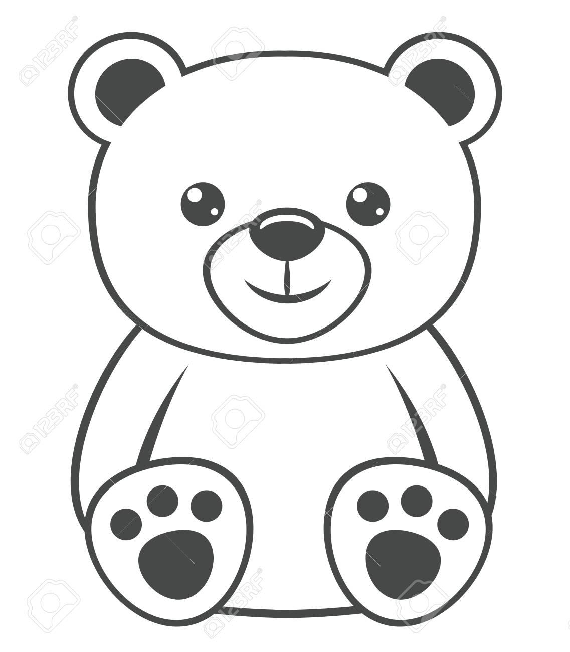Cute polar bear on a white background..