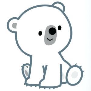 Collection of Polar bear clipart.