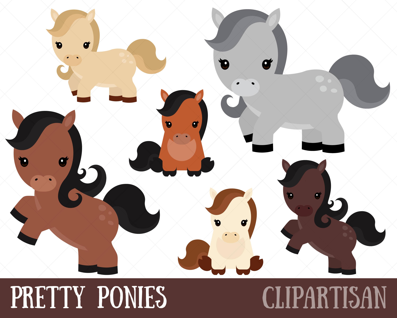 Pony Clipart / Cute Ponies Clip Art.