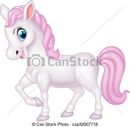 Cute pony horse isolated.