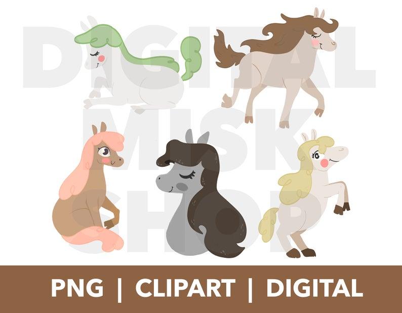Horses Clipart.