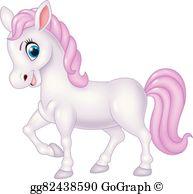 Cute Pony Clip Art.
