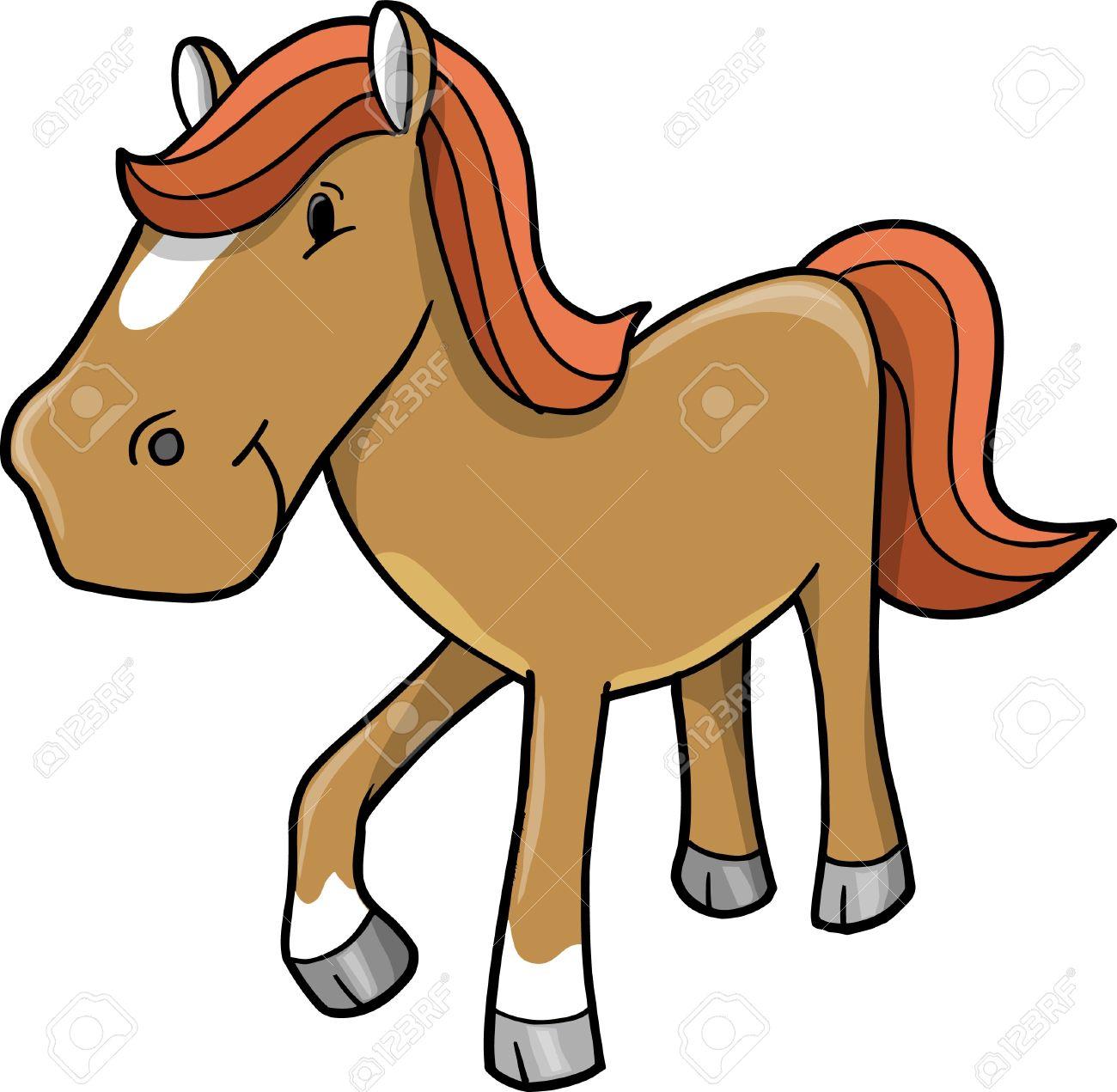Cute Horse Pony Vector illustration.