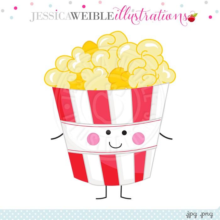 Cute Popcorn Clipart.