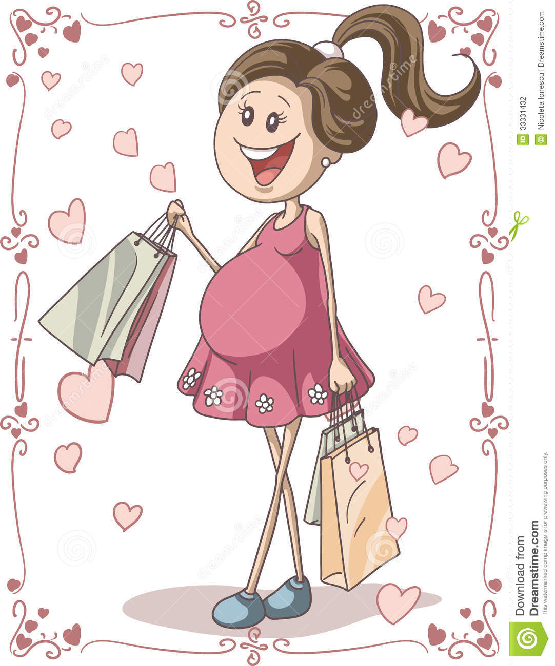 Showing post & media for Cute pregnant lady cartoon.