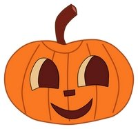 Cute pumpkins schcrows clipart.