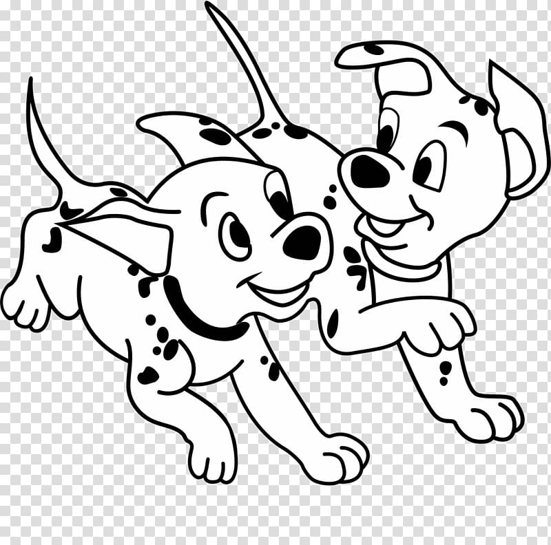 Dalmatian dog Puppy Cartoon, Cute puppy puppy,Play puppy.