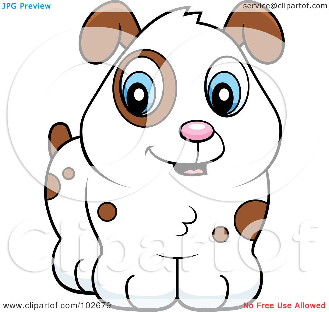 Cute White Puppy Clipart.